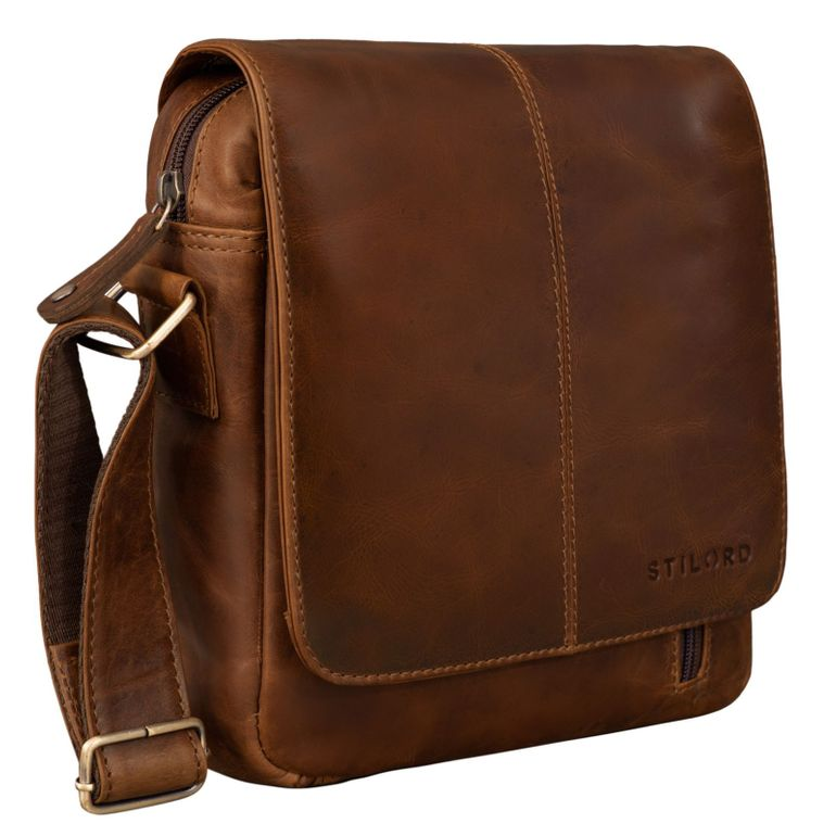 """Matt"" Borsello in Pelle da Uomo Messenger bag"